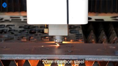 Fiber laser cutter with 20mm carbon steel
