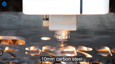Fiber laser cutter with 10mm carbon steel