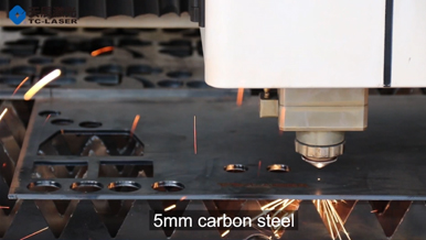 Fiber laser cutter with 5mm carbon steel