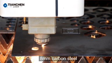 Fiber laser cutter with 8mm carbon steel