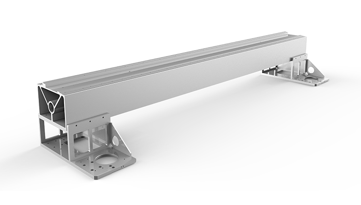 Aviation Aluminum Gantry of the fiber laser cutting machine