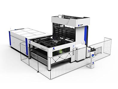 Tower Type Automatic Plate Library Fiber Laser Machine TC-P3015LA