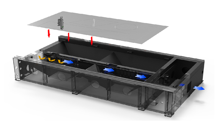 Intelligent partition dust removal system