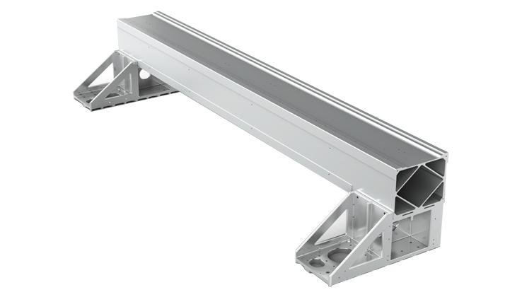 Aviation-grade extruded aluminum gantry