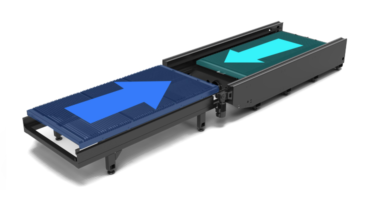 The newly designed exchange worktable, higher processing efficiency