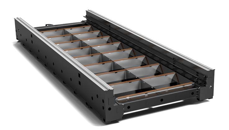 Heavy-duty plate-weled hollow bed