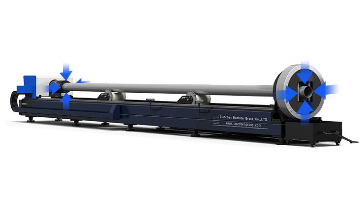 High-precision tube cutting machine